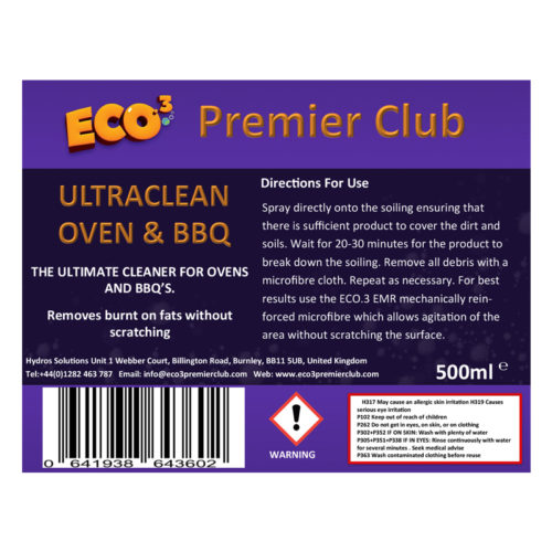 UltraClean Oven & BBQ Cleaner 500ml | Eco3 Premier Club