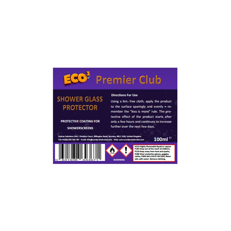 Shower Glass Protector 100ml | Eco3 Premier Club