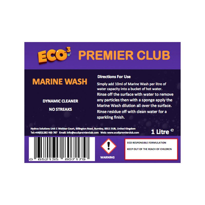Marine Wash 1L Concentrate | Eco3 Premier Club - Eco-Responsible Cleaning Products